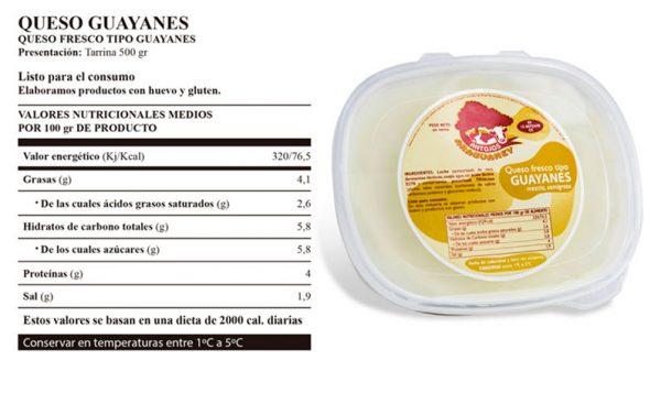 Queso-Guayanes-presentacion-valores-nutricionales-el-rincon-de-la-abuela